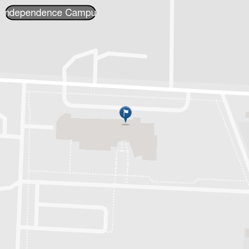Map view of the Independence, MO Campus