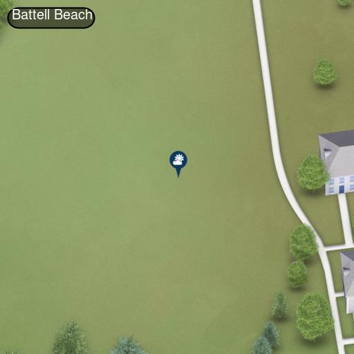 Map of Battell Beach