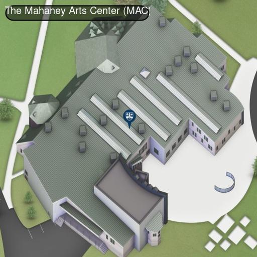 Map of Mahaney Arts Center Dance Studio