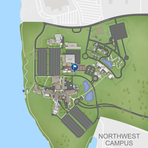 A map of Northwest Campus. Click to explore the complete map in a new window.