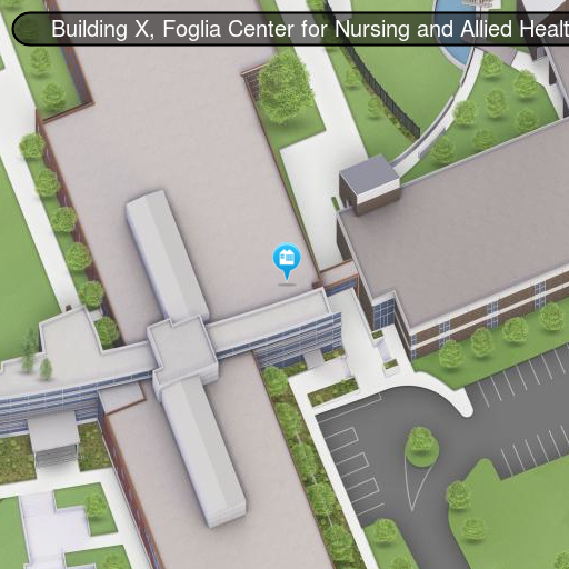 Map of Building X, Room X-102